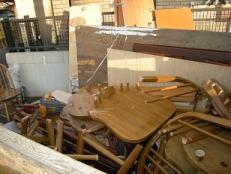 家具は解体して処分いたします。